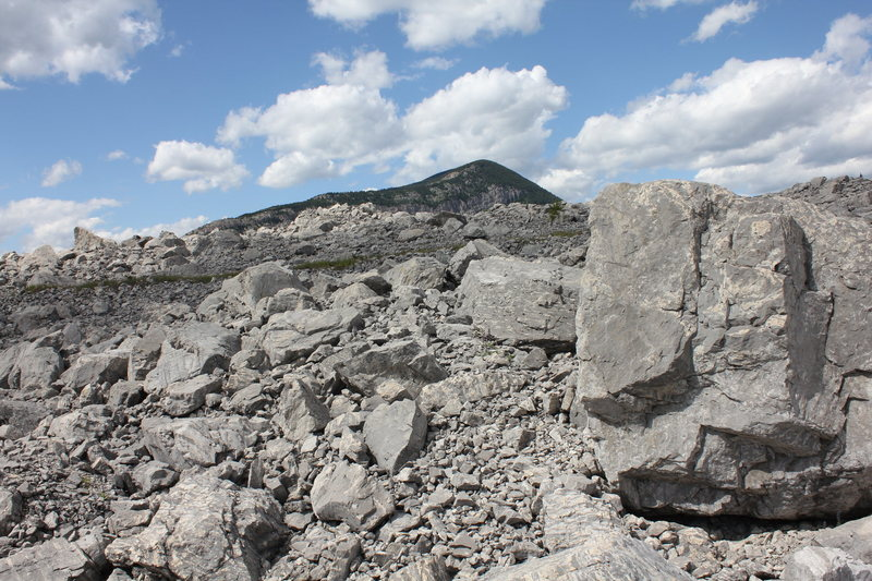 Rock Climbing Photo: The Relentless Boulder and The Prow. Frank Slide, ...