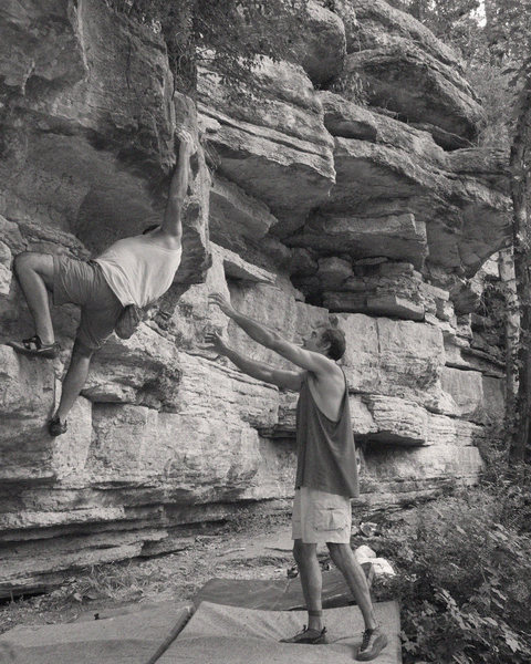 Rock Climbing Photo: Jeff Noffsinger on The Reach