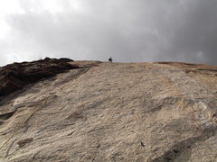 Rock Climbing Photo: lost in Space - Leftmost climb up a water polished...