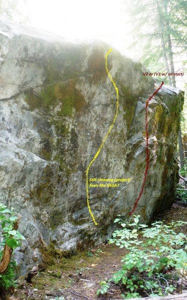 South side of boulder