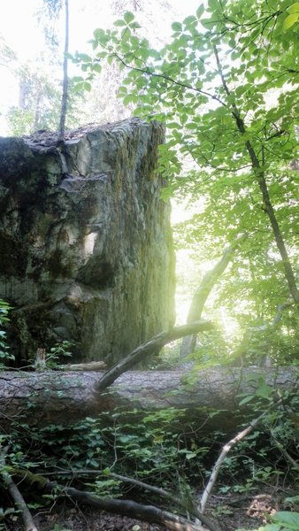 Rock Climbing Photo: East side of one of the boulders close to the scho...