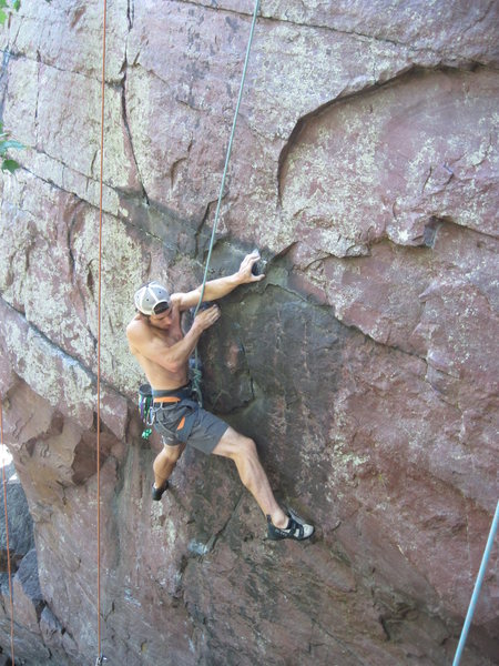 Rock Climbing Photo: This is where the line diverges from Hammer Time.