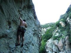 Rock Climbing Photo: Me at Malibu Creek.