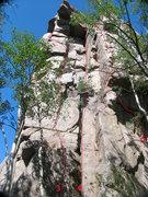 Rock Climbing Photo: SW Corner of Bear Scat Rock