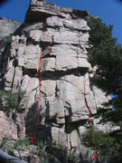Rock Climbing Photo: West Face of Bear Scat Rock