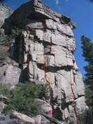 Rock Climbing Photo: West Face of Bear Scat Rock pic 2