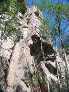 Rock Climbing Photo: Roof Area near SW corner