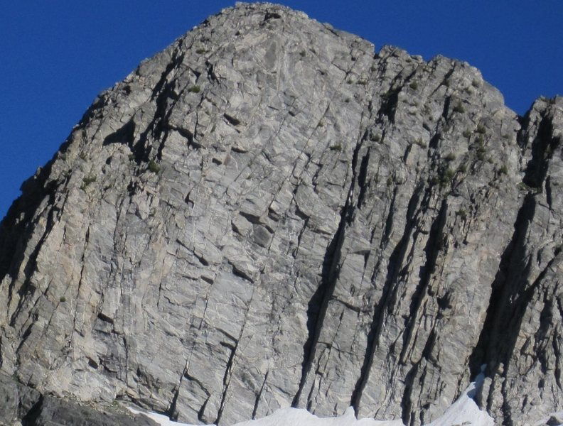 Rock Climbing Photo: southeast face. the shadowy dihedral is worker bee...