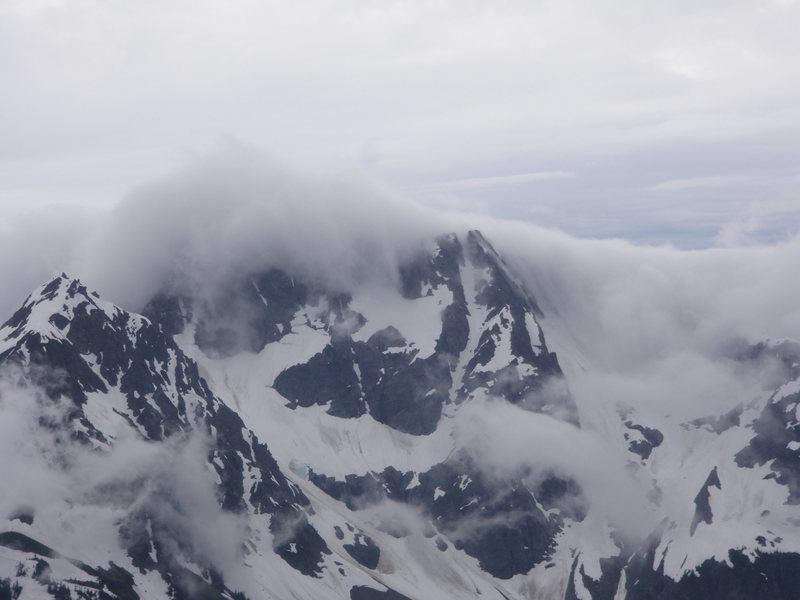 Weather rolling in looking SW from Buckner summit