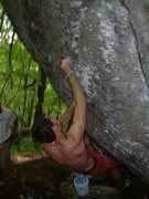 "Rock Climbing Photo: Aaron James Parlier on the FA of ""Lullibies F..."