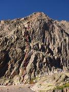 Rock Climbing Photo: Weather Window Waltz with belays.