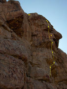 Rock Climbing Photo: the yellow bolted line
