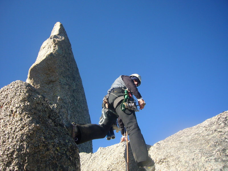 Rock Climbing Photo: Just after #3 hand crack below first tower (visibl...