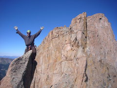 Rock Climbing Photo: Steve Gladbach on the true summit with Peaks 16, 1...