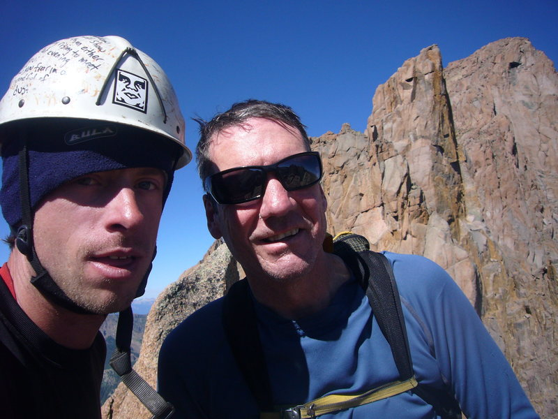 Steve Gladbach and Peter Blank on summit.