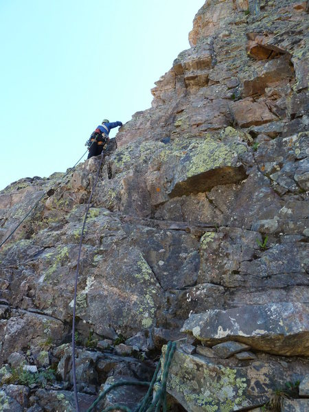 Rock Climbing Photo: Beginning of pitch five?