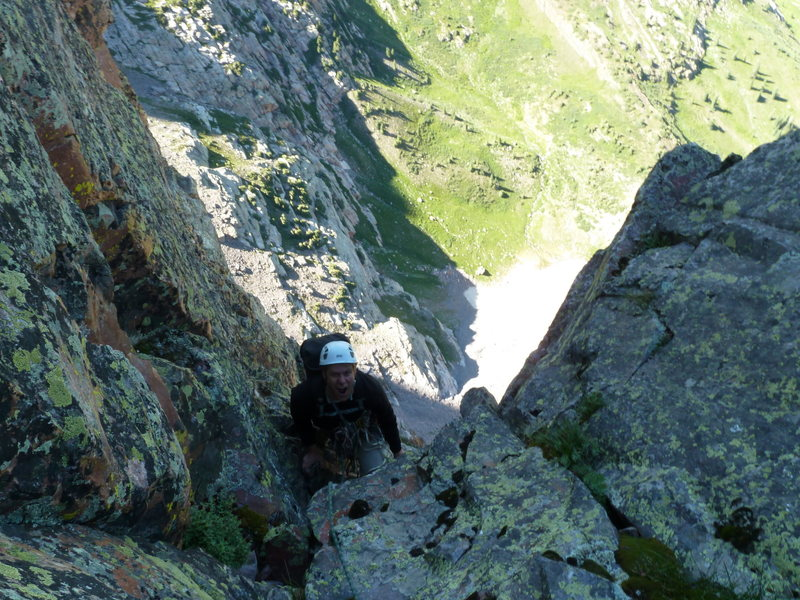 The end of the technical climbing, beginning of the simul-climbing.