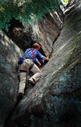 Rock Climbing Photo: Justin Guarino on 'The Good Book' 5.8