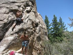 Rock Climbing Photo: Belaying Indira.