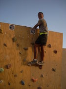 Rock Climbing Photo: Climbing Task Force Ghost(V2) in Iraq, back in 200...