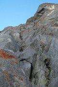 "Rock Climbing Photo: Heading up into ""big"" feeling terrain"