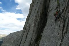 Rock Climbing Photo: the last pitch below the dihedral