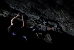 Rock Climbing Photo: Aaron James Parlier on the 2nd ascent of SLS(V9/10...