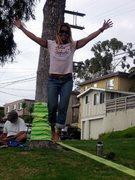 Rock Climbing Photo: Look MA no hands!