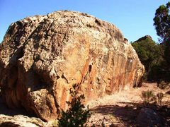 Rock Climbing Photo: East face of Blacked Out Boulder.