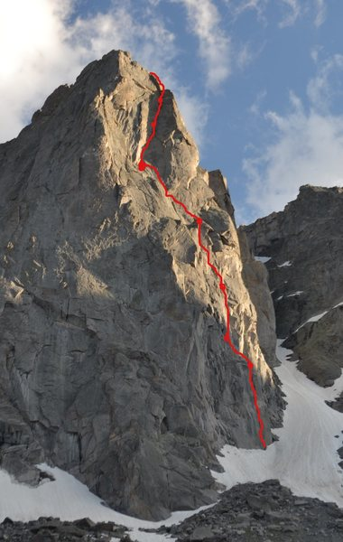 Rock Climbing Photo: Beta route line with belay stations