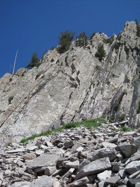 Rock Climbing Photo: In the corner.