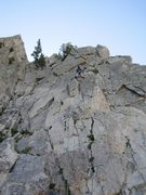 Rock Climbing Photo: Heading up.