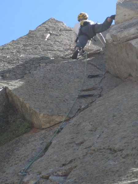 Rock Climbing Photo: Corner top out.