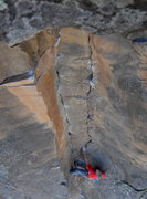 Rock Climbing Photo: The twin cracks section.