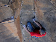 Rock Climbing Photo: Plugging it in...