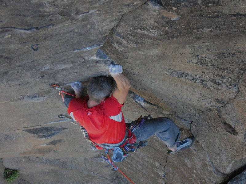 Rock Climbing Photo: This section marks the start of the harder climbin...