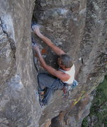 Rock Climbing Photo: This is the first break after the crux, and just b...