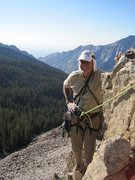 Rock Climbing Photo: The man himself on top.