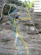Rock Climbing Photo: Good line showing the route.