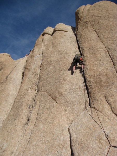 Rock Climbing Photo: leapin into first trad lead