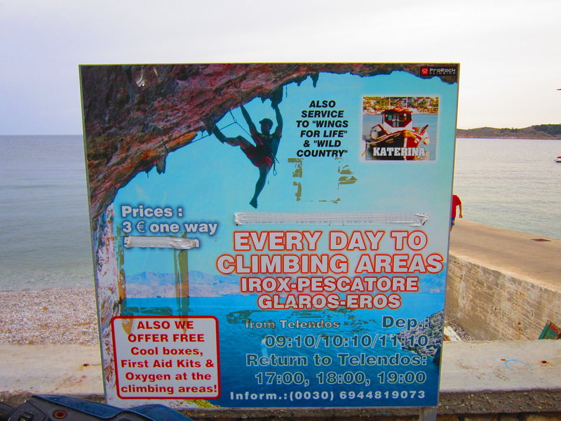 Rock Climbing Photo: The sign at the Myrties jetty showing the times of...