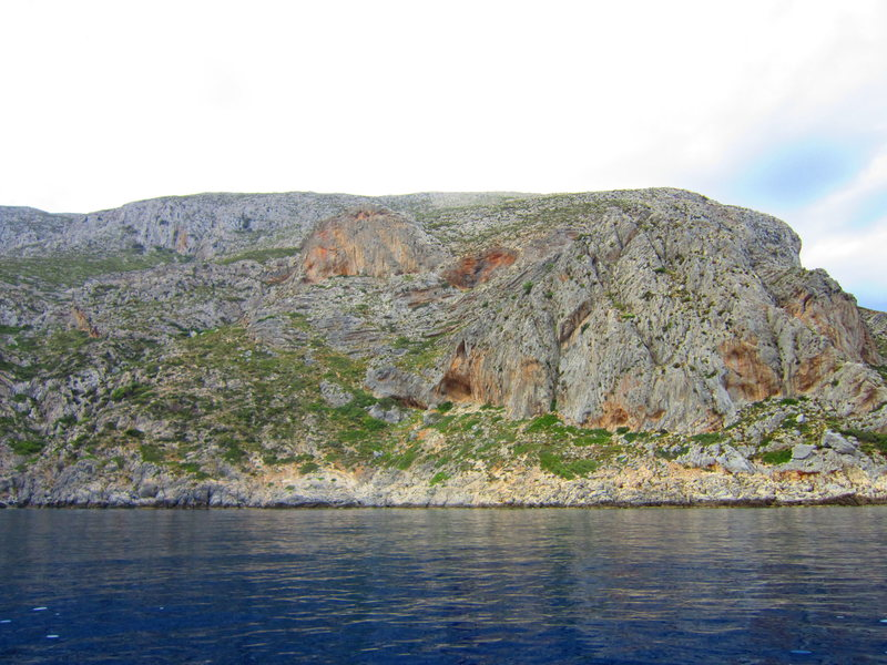 A view of sectors Irox, Pescatore, Glaros, and Eros, from Captain Yiannis' boat.