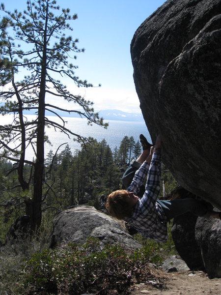 Rock Climbing Photo: lovin tahoe