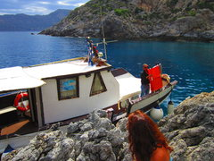 """Rock Climbing Photo: Captain Yiannis unloading the """"medical gear&q..."""