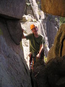 Rock Climbing Photo: Alex in the cave