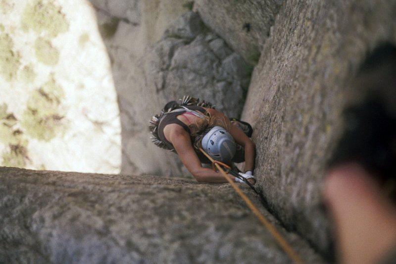 Rock Climbing Photo: linking the 2nd pitch