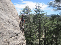Rock Climbing Photo: Christian climbing Wildrose.