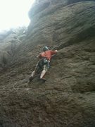 Rock Climbing Photo: Very fun 5.9 once you clip the second quick draw I...