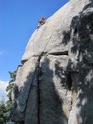 Rock Climbing Photo: Chris Owen poised at bolt 3.