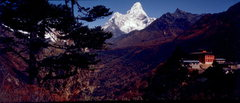 Rock Climbing Photo: Ama Dablang and Tengboche Monastery